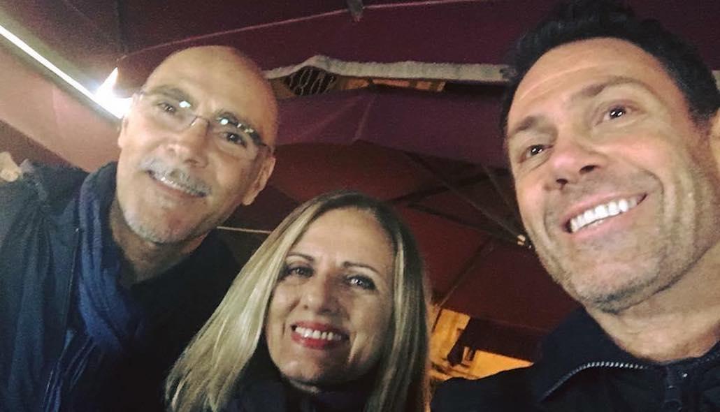 Un bel trio… Gianna, Daniele Falleri, Marco Falaguasta