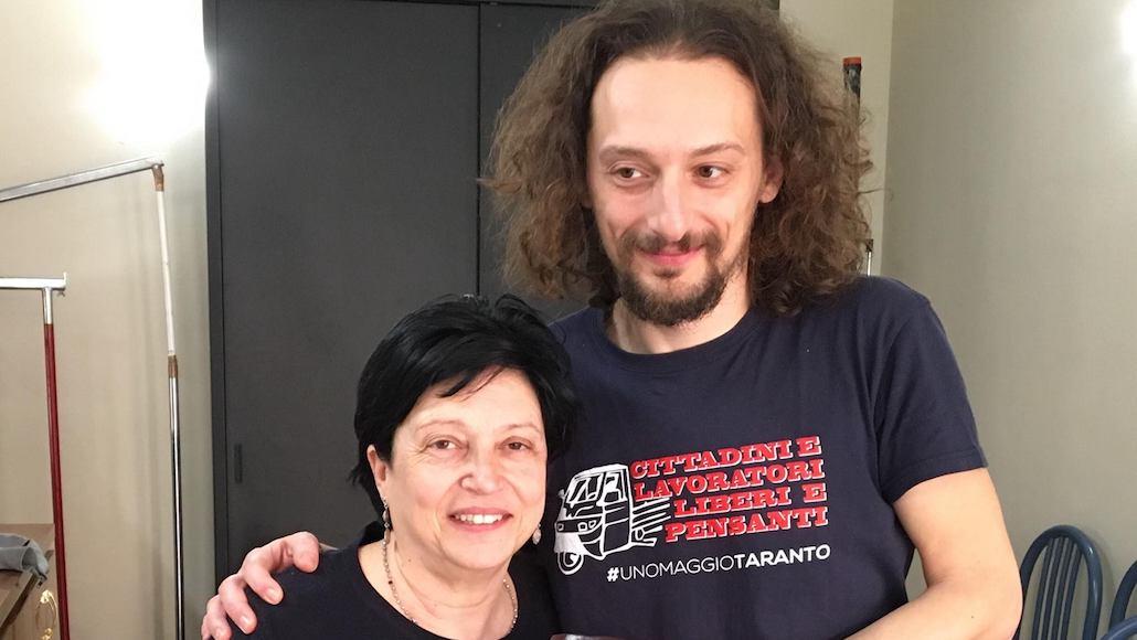 Il Docente Gabriele Guarino con l'Allieva Patrizia Salutij