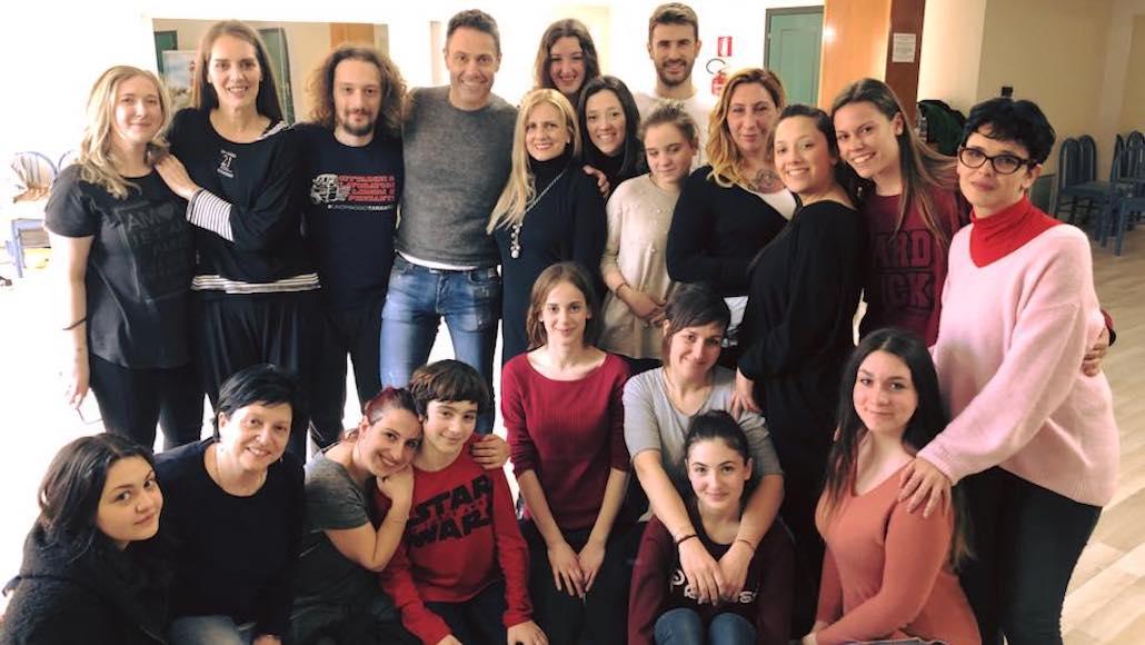 La classe di recitazione con i docenti M. Falaguasta e G. Guarino