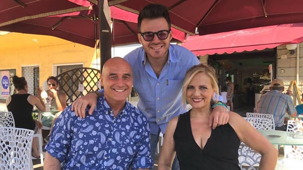 Gianna con Marco Vito e Stefano Sani