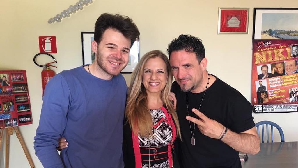 Gianna con i docenti Marco Vito e Enzo Campagnoli
