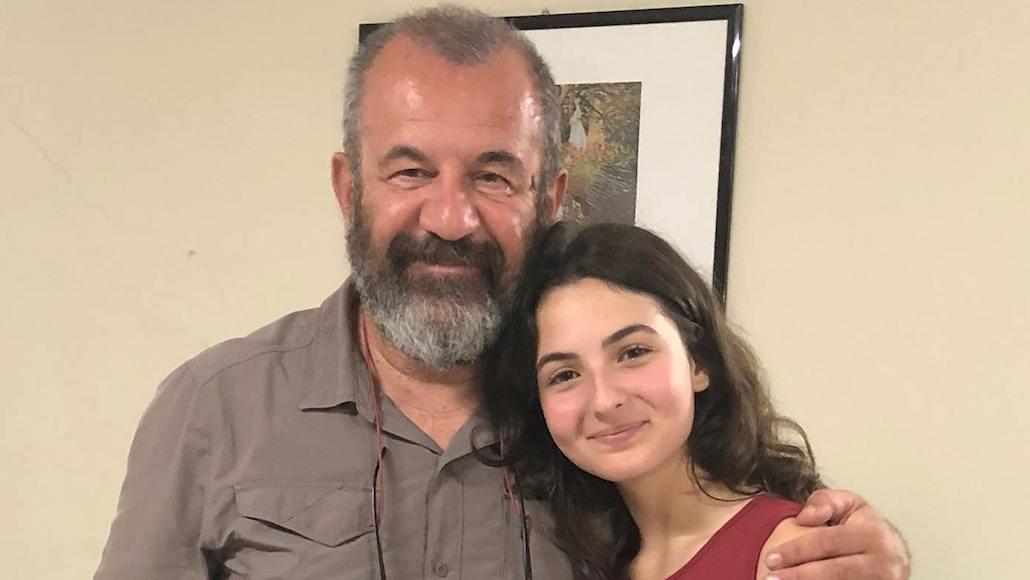 Il regista Francesco Falaschi con l'Allieva Tecla Insolia