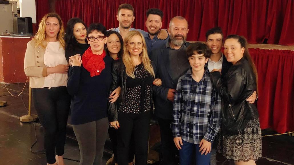 Il regista Francesco Falaschi con un gruppo di Allievi delle Muse
