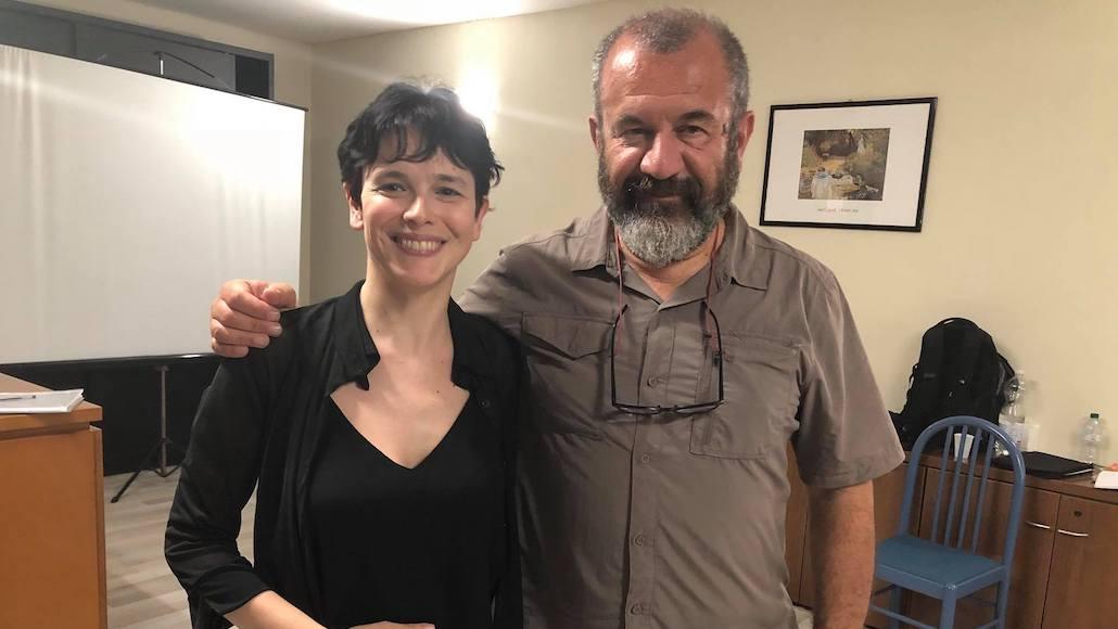 Il registra Francesco Falaschi con l'Allieva Marina La Loggia