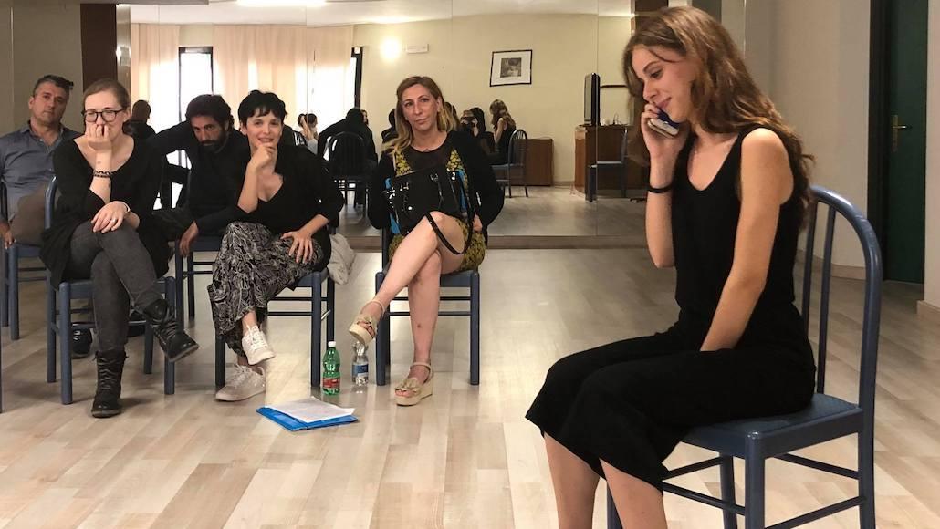 Momenti di Corso con il regista Francesco Falaschi, qui Chiara Dell'Omodarme durante la sua performance