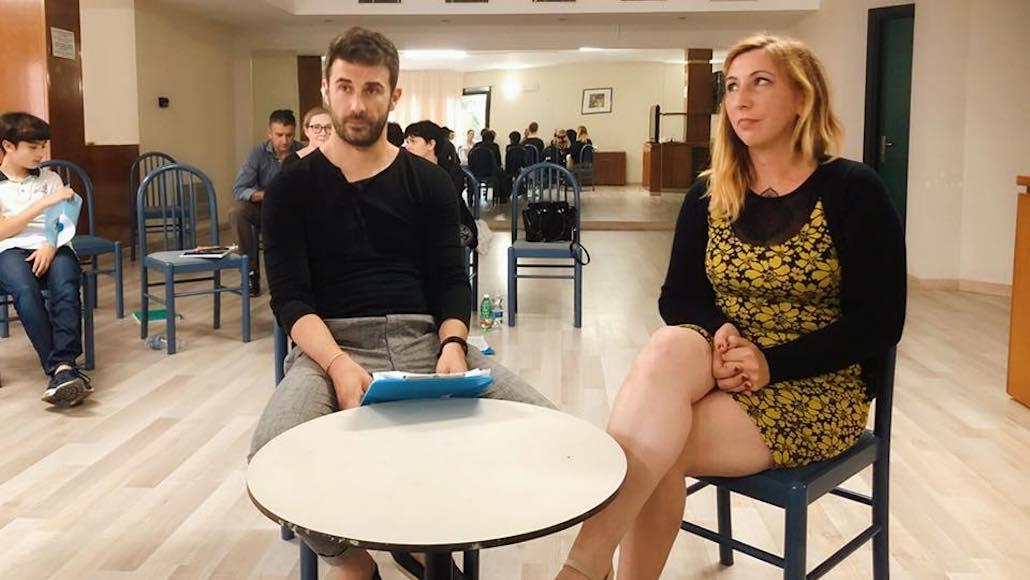 Momenti di Corso con il regista Francesco Falaschi, qui Marco Gistri con Susanna Berti durante la loro performance