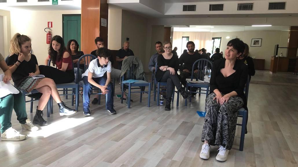 Momenti di Corso con il regista Francesco Falaschi, qui Marina La Loggia durante la sua performance