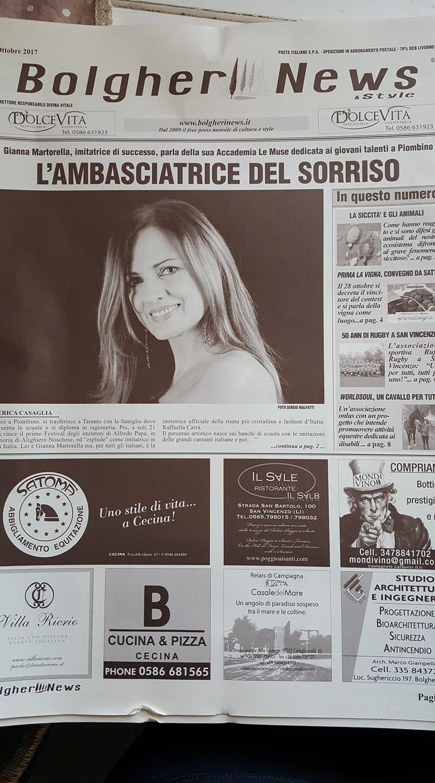Gianna Martorella l'Ambasciatrice del sorriso