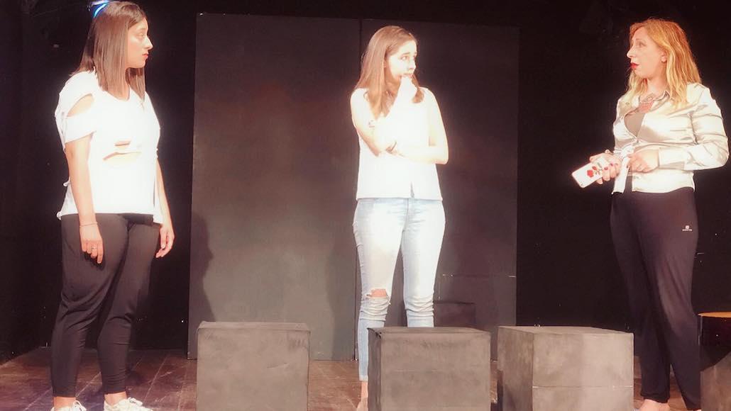 Al Testaccio momenti di recitazione con Noemi Tognoni, … e Susanna Berti