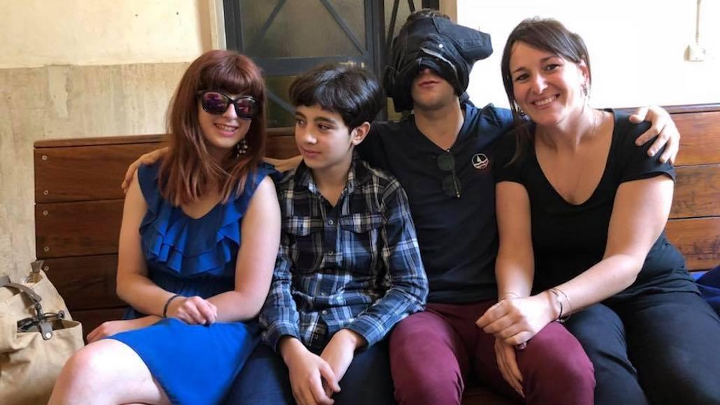 Gli Allievi in pausa Giulia Masselli, il piccolo … Christian Cavallini e…
