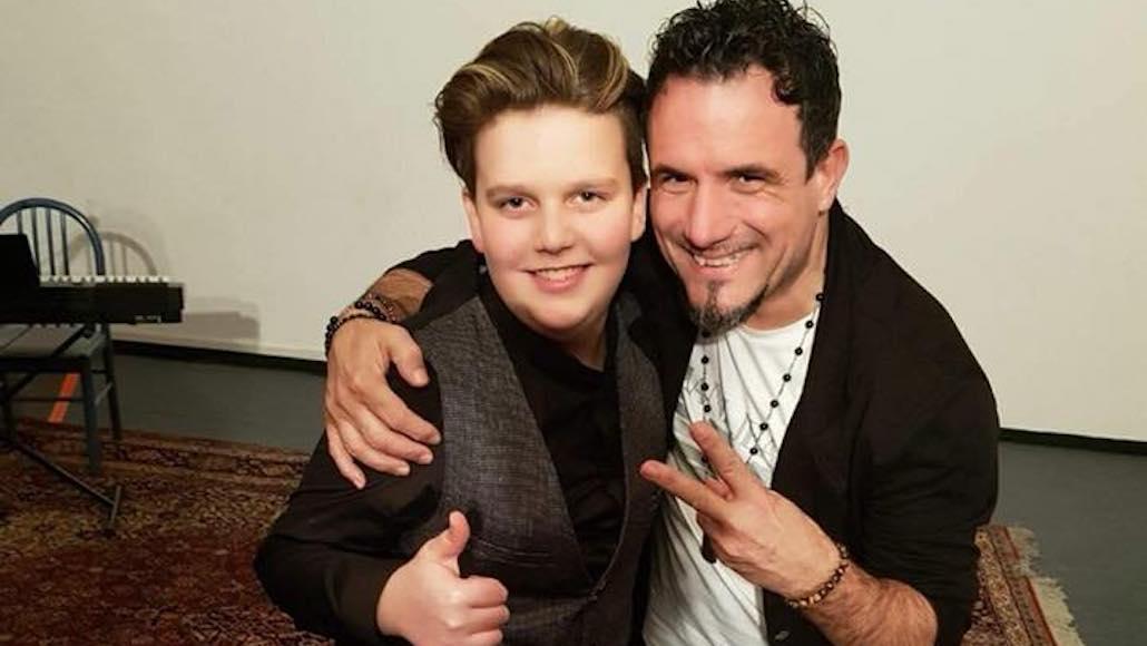 Il Maestro Campagnoli con il piccolo Allievo Enrico Tonelli