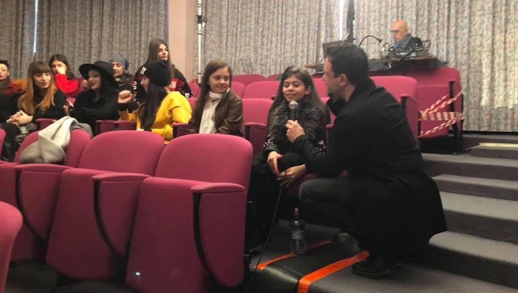 Il Maestro Campagnoli intervista la piccola Allieva Erika Musciotto