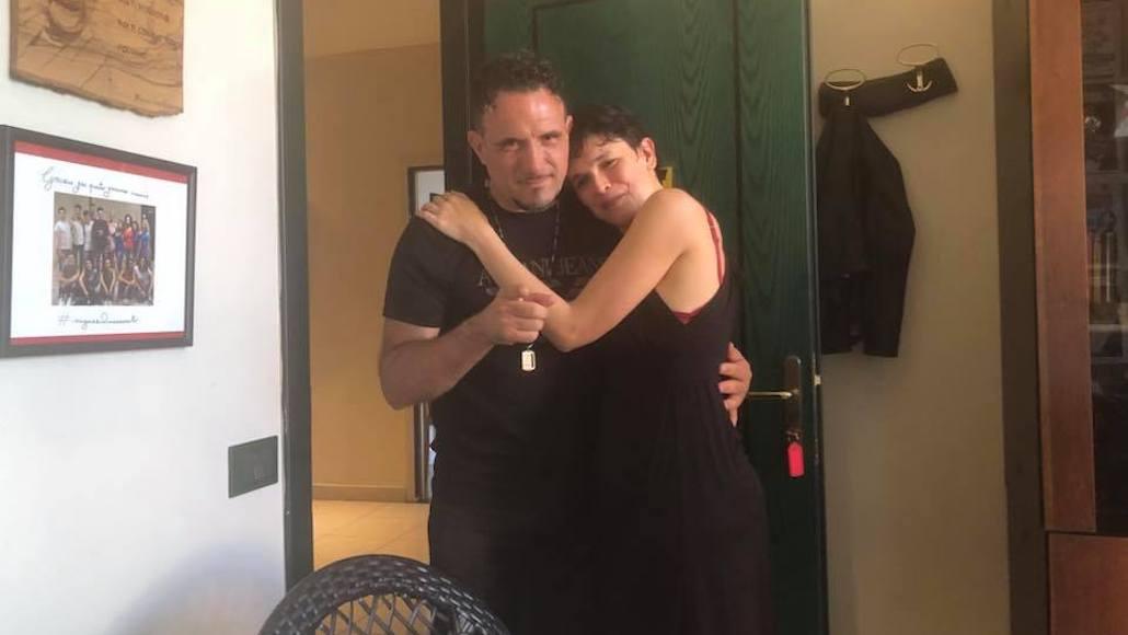 Il Maestro Enzo Campagnoli con l'Allieva Marina La Loggia