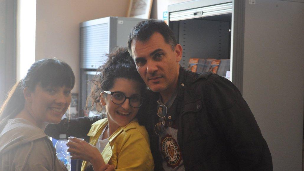 Il casting director Stefano Rabbolini con le Allieve Noemi Tognoni e Matilde Maffezzoli