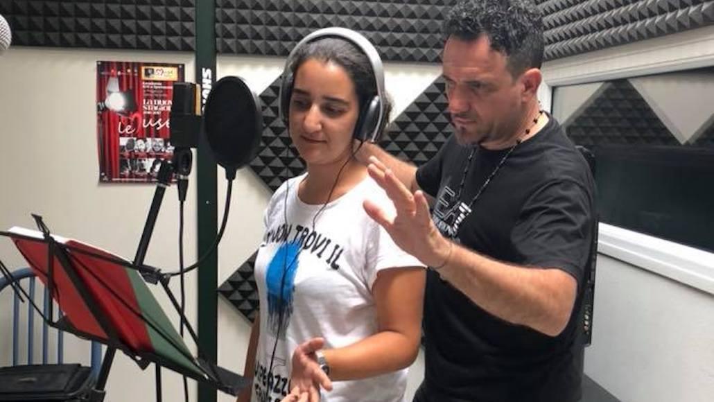 L'Allieva Roberta Anichini a lezione con il Maestro Enzo Campagnoli
