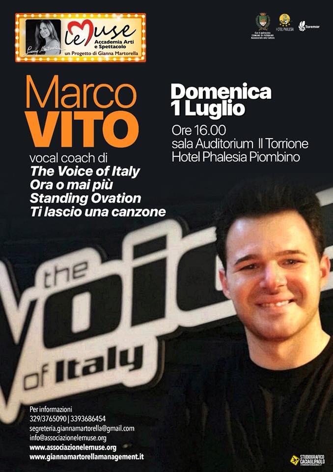 Direttamente da THE VOICE a Le Muse torna Marco Vito … 1 luglio 2018