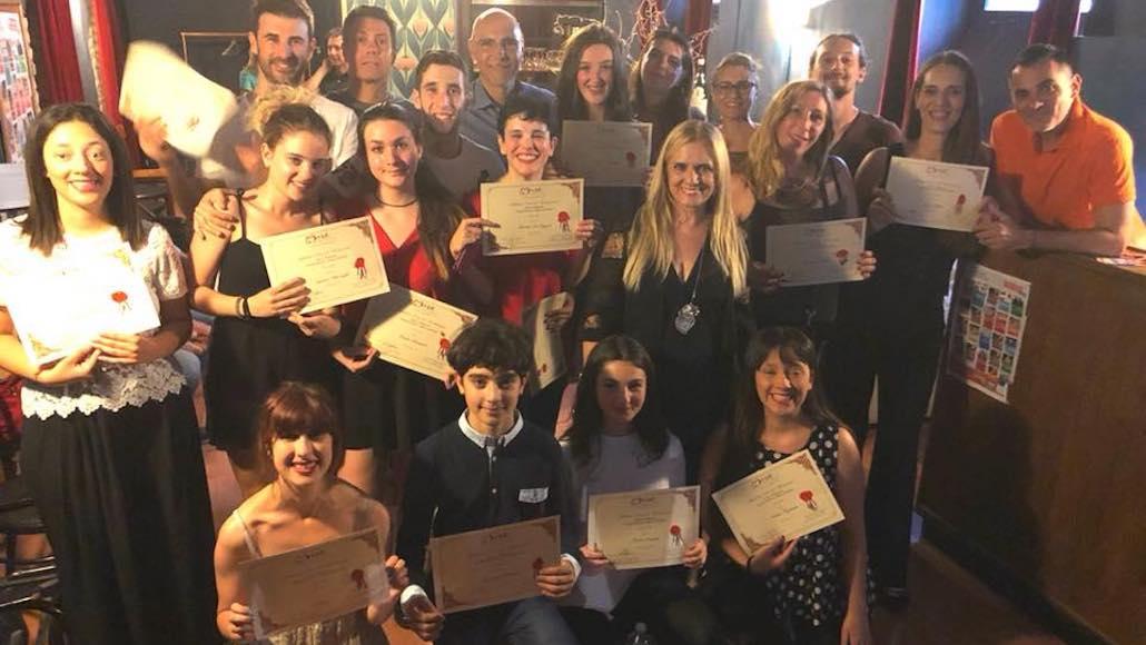Orgoglio e consapevolezza per il raggiungimento del diploma di fine corso di recitazione