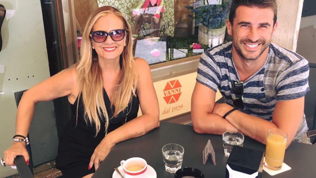 A Roma un momento di relax con Gianna e l'Allievo/Attore Marco Gistri