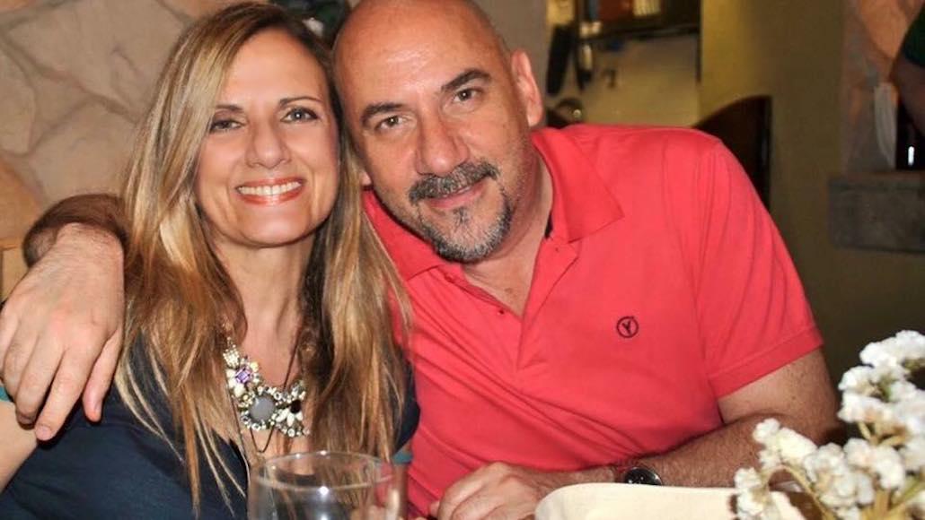 A Ristorante Mangiafuoco di Piombino, una bella immagine con Gianna e il Maestro Luca Pitteri, insegnante di Canto