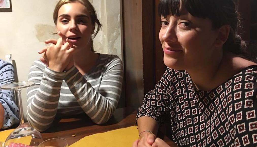 Al Ristorante Il Boccon di Vino di Piombino a tavola con le Allieve Sofia Donatelli e Giorgia Tognoni