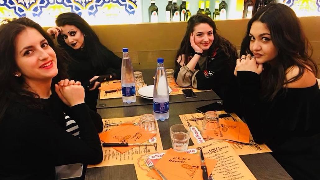 A Roma con le belle Allieve Barbara Valentino, Matilde Maffezzoli, Tecla Insolia e Martina Beccheroni