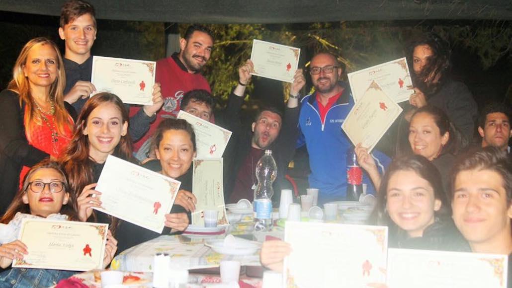 Al resort Villa Max a Prata di Suvereto, gli Allievi del corso di Recitazione di Simone Terranova ricevono i meritati diplomi di fine corso 2016:17