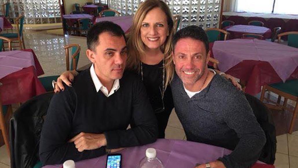 All'Hotel Phalesia Gianna a tavola con Stefano Rabbolini e Marco Falaguasta i docenti del Corso di Recitazione 2017/18
