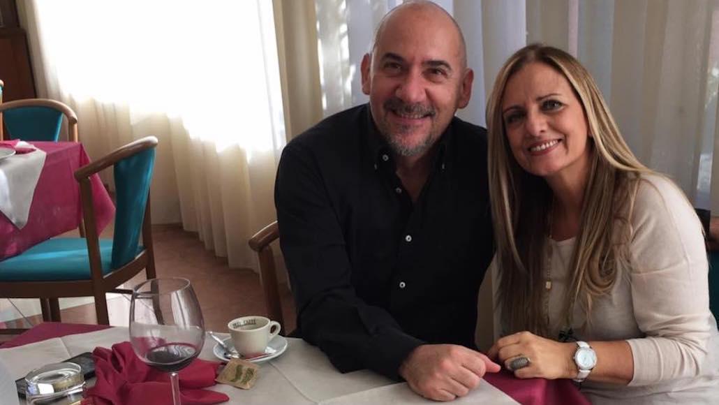 All'Hotel Phalesia Gianna e Luca Pitteri in pausa pranzo, in attesa di riprendere la lezione di Canto