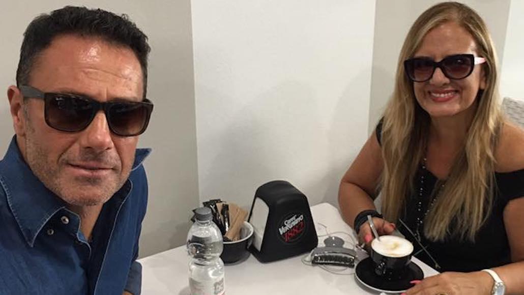 In Versilia… Gianna con Marco Falaguasta in viaggio verso la sede di Ameglia per una giornata di Corso di Recitazione. Era l'estate del 2017