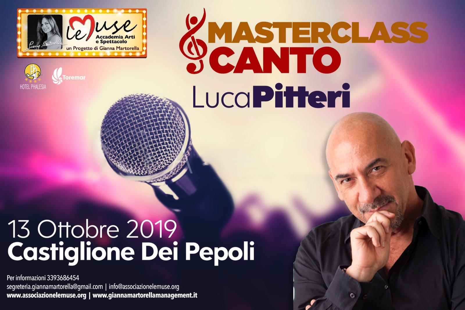 13 ottobre 2019 Masterclass di canto con il Maestro Luca Pitteri