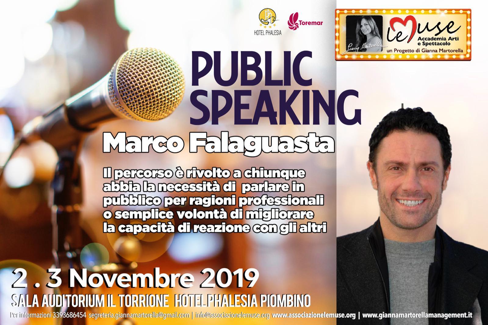 2-3 Novembre 2019 corso di public speaking con Marco Falaguasta