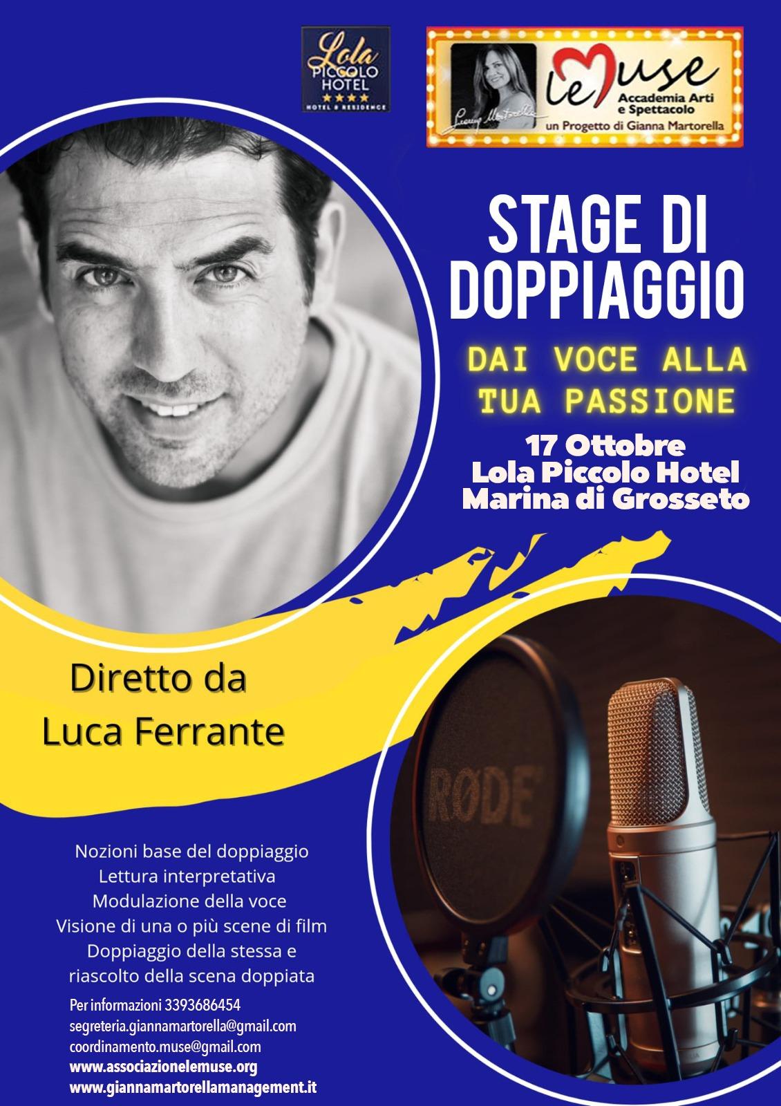 17 ottobre 2021 Stage di doppiaggio con Luca Ferrante