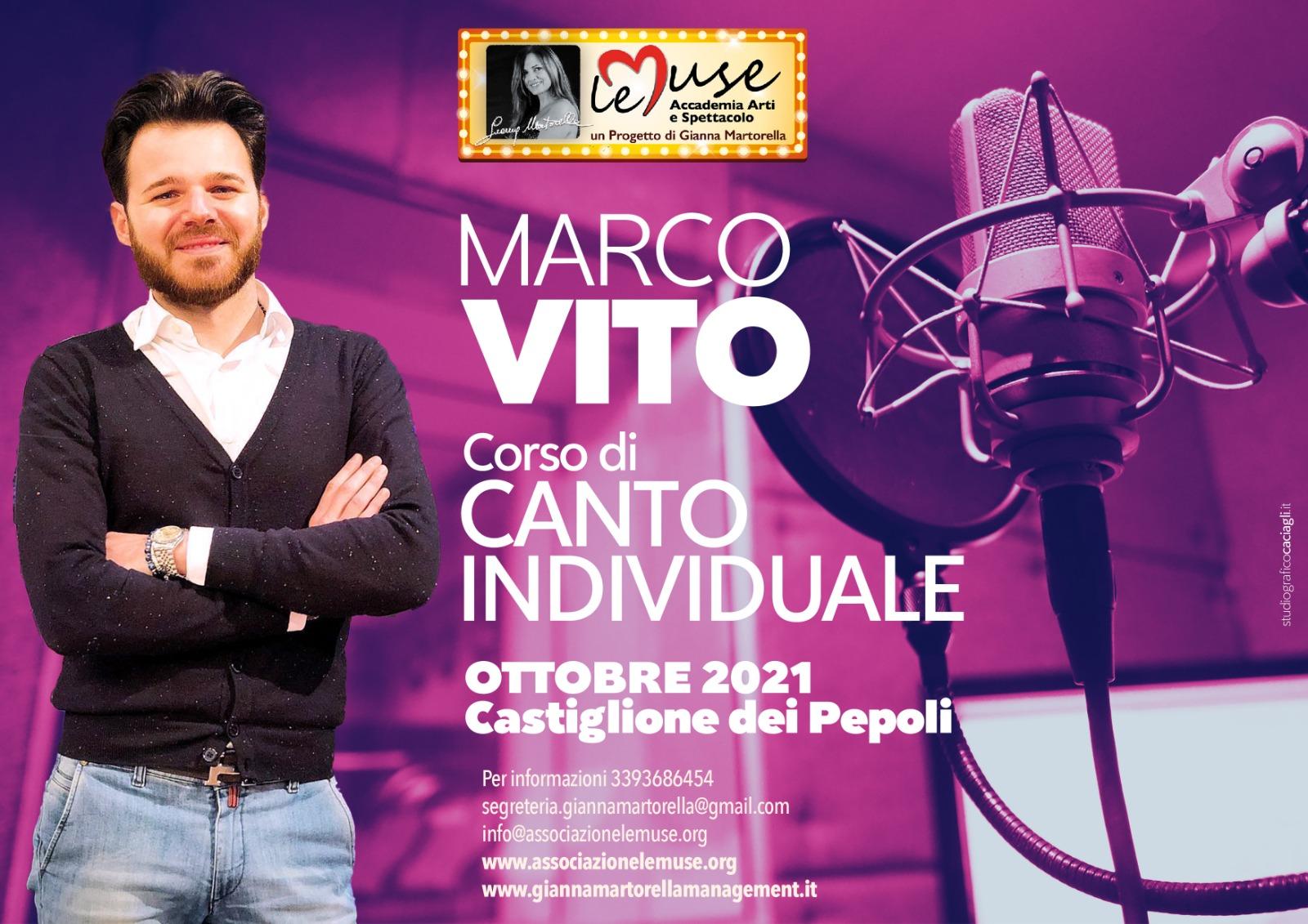 Corso di canto individuale con Marco Vito